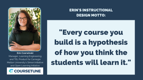 """""""Every course you build is a hypothesis of how you think the students will learn it."""""""