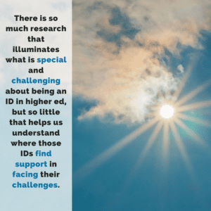 Research illuminates what is special and challenging about instructional design