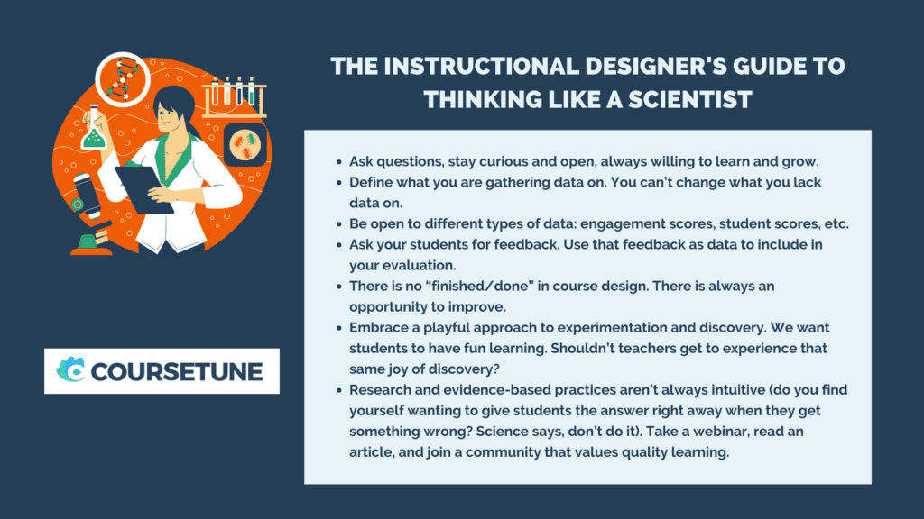 the instructional designer's guide to thinking like a scientist