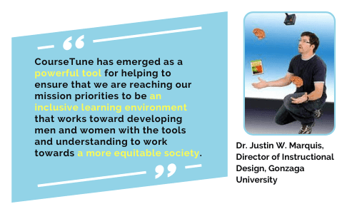 CourseTune has emerged as a powerful tool for helping to ensure that we are reaching our mission priorities
