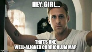 well-aligned curriculum map