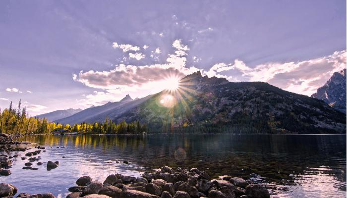Sun Rising ove mountain