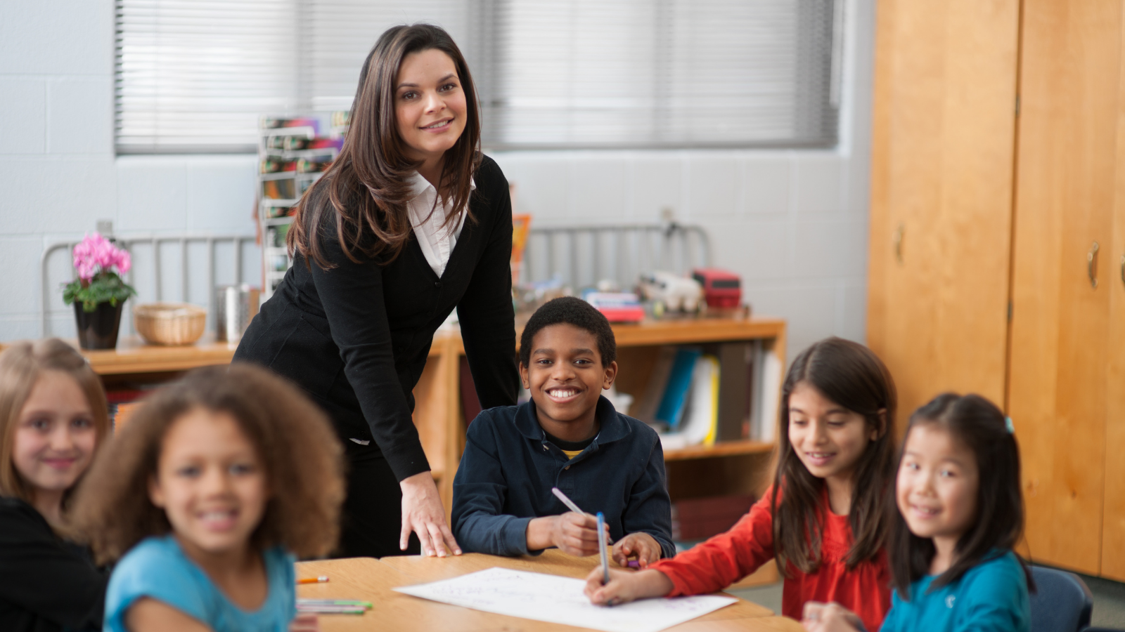 Teacher focusing on teaching